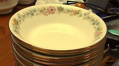 "Royal Albert Paragon Belinda 6 x Small Fruit / Berry / Pudding Bowls 5.5"" wide"