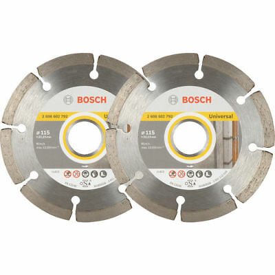 Bosch Angle Grinder Diamond Cutting Blades 115mm  22.23 Bore Pack of 2 Blades