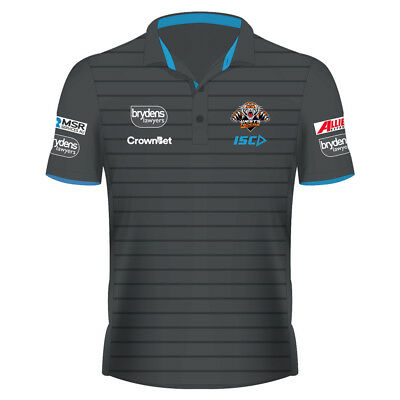 Wests Tigers 2018 NRL Adults Mens Lyfestyle Polo Shirt BNWT Rugby League