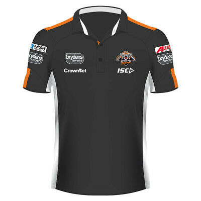 Wests Tigers 2018 NRL Adults Mens Media Polo Shirt BNWT Rugby League