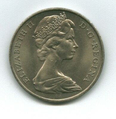 Gibraltar:  Elizabeth Ii: 1967 One Crown  Cupro-Nickel Uncirculated