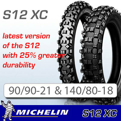 Michelin S12 XC Pair Deal 90/90-21 & 140/80-18