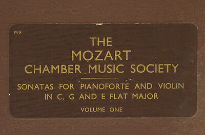 LILI KRAUSS -PIANO- & GOLDBERG -VIOLIN- Mozart Chamber Society: Volume one A297