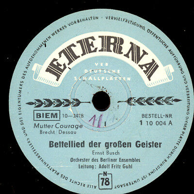 "ORCH. BERLINER ENSEMBLE  ""Mutter Courage""  Bettellied der gr. Geister 1&2  S8460"