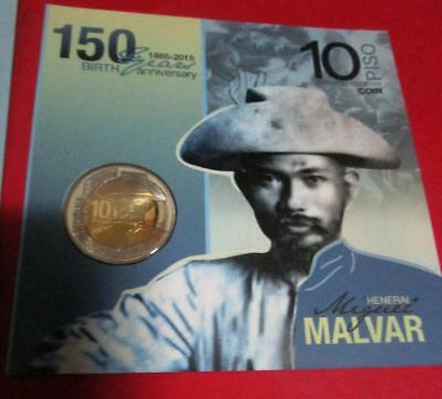 2015 Philippines 150 years Heneral Miguel Malvar 10 piso commemorative coin new