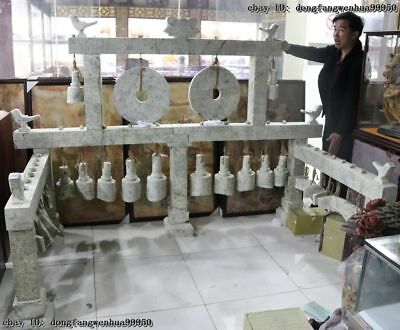 China Folk Old Stone Liangzhu culture Musical Jade Chime bells Set Chime of Bell