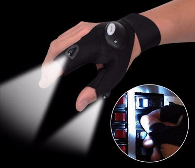 Atomic Light Beam Gloves Flashing Rave Finger Up Lighting Party Glow Work LED TV