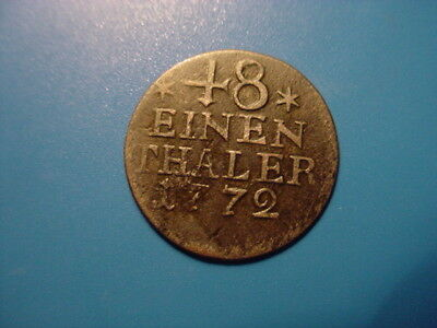 Prussia 1772 1/48-Thaler In Nice Condition