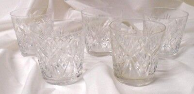 small cut glass whiskey tumblers set of 5
