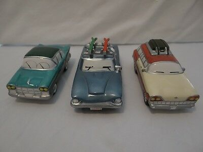 Dept 56 Snow Village Classic Cars 5457-7 Heading For The Hills Blue 54897 Ski
