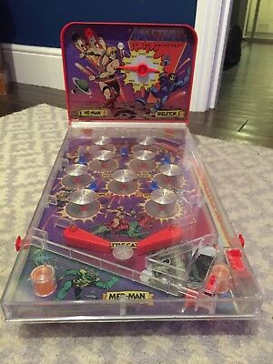 Vintage He-Man Masters Of The Universe Pinball Machine Mattel Complete & Working