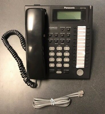 Panasonic KX-T7736 Black Desk Phone LCD Display Seller Refurbished