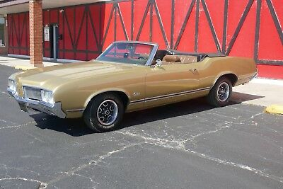 1970 Oldsmobile Cutlass ORIGINAL LOW MILEAGE FACTORY CONVERTIBLE-LIKE 442 #'S MATCH 350 V8,3 OWNER,FACTORY COLORS,AC,VERY ORIGINAL-LIKE 442 71 72 69 68