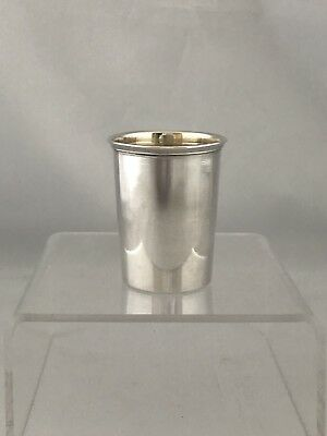 Solid Silver Continental Tot Cup Beaker