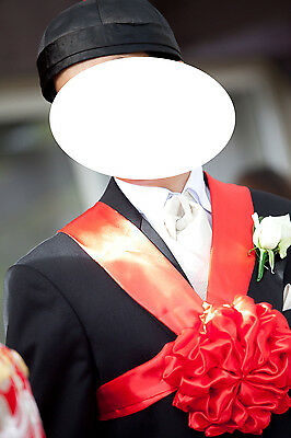 Chinese Groom's hat and bow