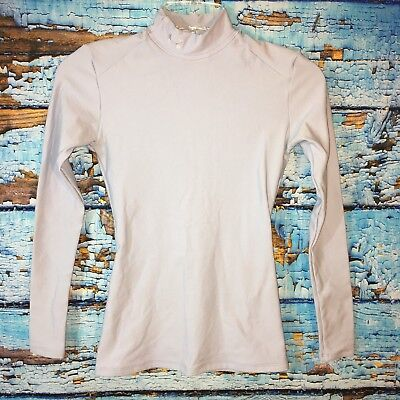 Under Armour Womens Turtle Neck Long Sleeve Shirt Small Light Blue Compression