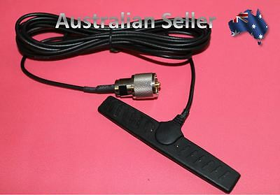 UHF CB On Glass Antenna 2.5dBi T Shape 4m Coax & PL259 Connector