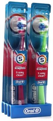 6 Oral B Advantage Complete 5 Way Clean Soft Head Toothbrushes Multi Colored