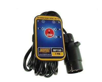 7 Pin 12V Towing Towbar Socket Electrical Tester With 3.5M Cable Maypole Mp180B