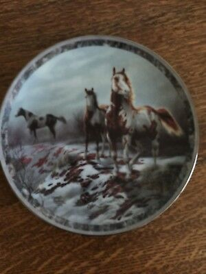 "Galloping Glory Proud Paints 8"" Horse Plate Chuck Dehaan Bradford Exc 5 Issue"