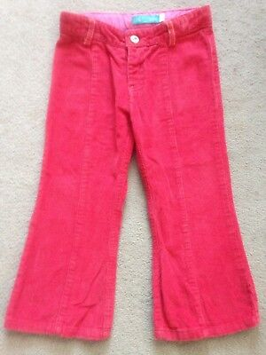 Jools Oliver, Little Bird, Toddler Girls, Red Corduroy Trousers. Age: 18-24 Mths