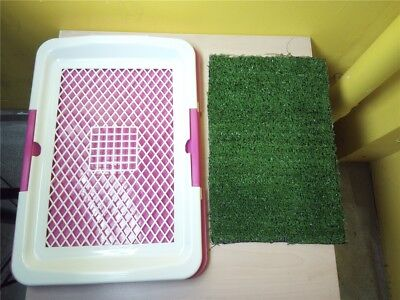 Pet Dog Toilet Urinary Trainer Grass Mat Potty Indoor House Litter Tray