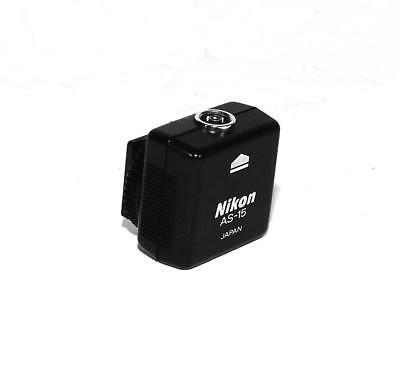 Genuine Nikon AS-15 Hot Shoe Adapter with PC Terminal.
