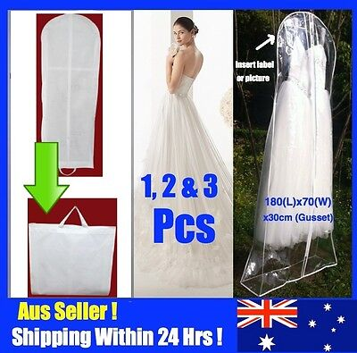 Extra Large Wedding Dress Bridal Gown Formal Garment Cover Storage Bag A1