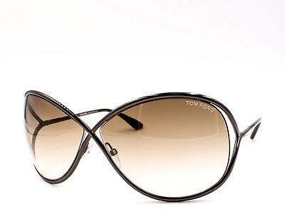 e86ae3024e TOM FORD TF 130 36F Miranda Oversized Soft Square Sunglasses Dark Bronze ~  New