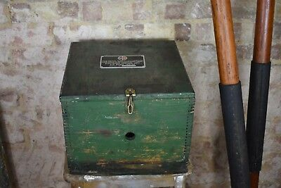 Decorative Vintage Tool Chest Work Box Painted Engineers Wooden Storage