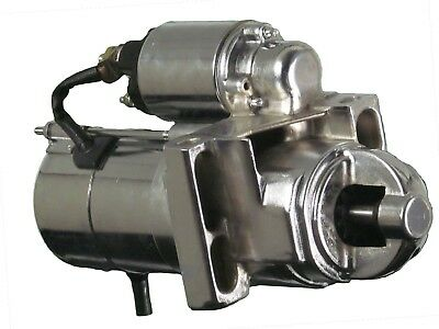 SBC BBC 305 350 454 Chrome Chevy Staggered Bolt Mini Starter 3HP SR8552N