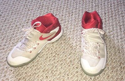 NIKE KYRIE 2 GS TOUCH FACTOR BOYS SHOES White/Red 826673-166 Size 6Y