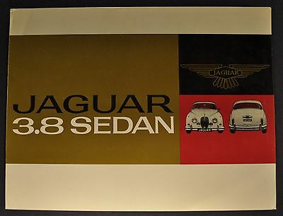 1962 Jaguar 3.8 Sedan Sales Brochure Folder US Market Excellent Original 62