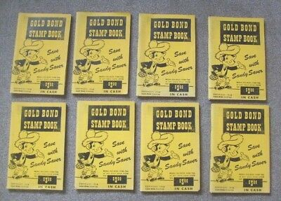 Gold Bond Stamp Books Unused 1948 SANDY SAVER The Lansing Store Mt Hope Wis