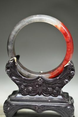 Chinese red Natural jade hand carved lucky bracelets v12zrf