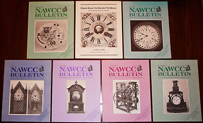 Bulletin of National Association of Watch & Clock Collectors NAWCC 1986 Full Yr