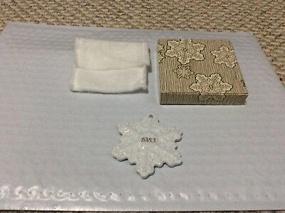 Used Avon 1983 Christmas Remembrance Ceramic Snowflake Christmas Ornament