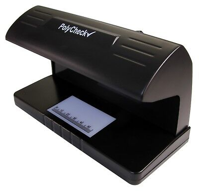 PolyCheck 9W 2-in-1 UV Note Checker - Detects Counterfeit Polymer & Paper Money