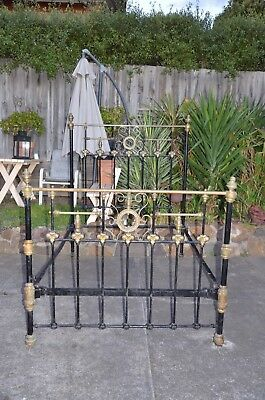 antique brass bed and cast iron bed
