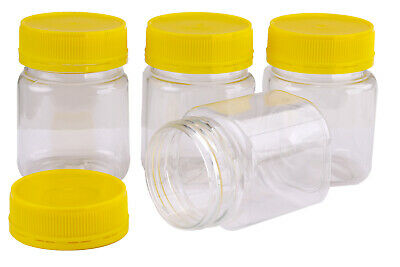 Plastic Square Honey Jar 250gm White Anti-Theft Lid  240 Food Containers & Lids