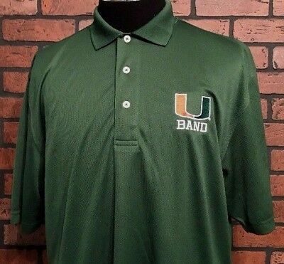 University Of Miami Hurricanes Band Polo Shirt Men's Size Large