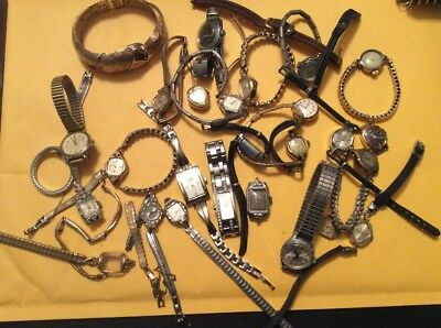 Large Ladies Watch Lot of Vintage/Modern Watches for Parts or Restoration