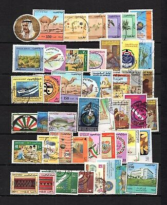 Kuwait- Selection  Postally Used Commemorative Modern Stamp Lot ( Kuw 347)