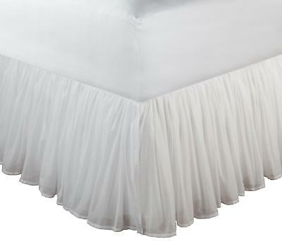 Greenland Home King Cotton Voile Bedskirt, White