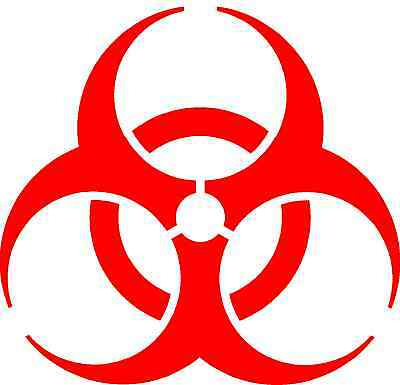 Resident Evil Biohazard symbol Die Cut Decal Vinyl Sticker