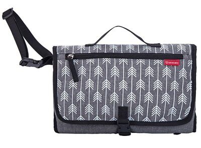 Lekebaby Portable Changing Mats With Pillow Pad and Nappy Bag Waterproof for Bab