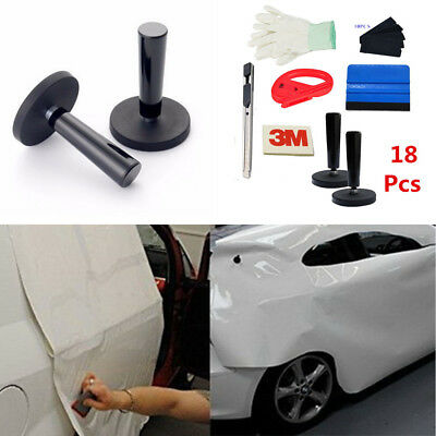 18Pcs Decals Sticker Vinyl Sheet Squeegee Cutter Magnet Auto Car Wrap Tools Kit