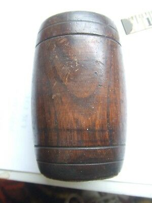 Wooden Ginger Storage Pot And Lid.
