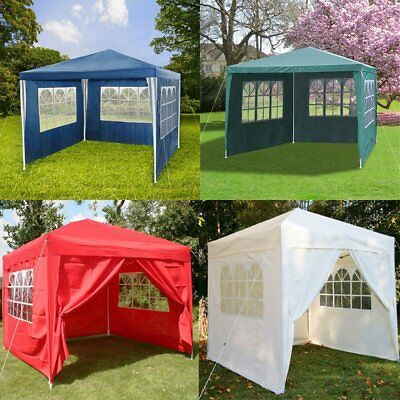 3 x 3M PE Gazebo Waterproof Garden Marquee Canopy Party Tent Outdoor Top Quality