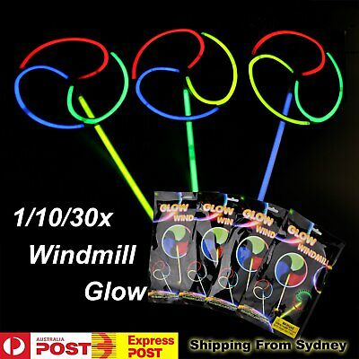 1/10/30 Kids Helicopter Windmill LED Glow Sticks Spinning Light Party Glowsticks